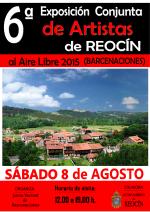 cartel 6ºexposicion de artistas de reocin2015