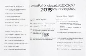 programa fiestas patronales de San Juan Degollao 1