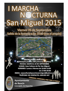 cartel marcha nocturna