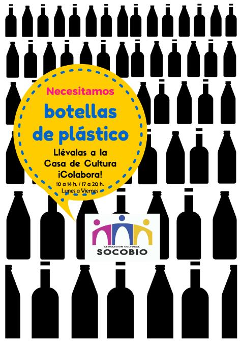 cartel recogida de botellas de plastico