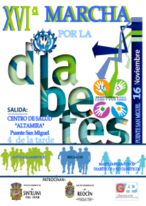 cartel XVImarcha diabetes