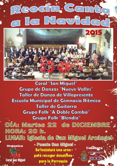 cartel reocin canta a la navidad 2015coralsanmiguel
