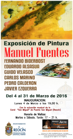 exposicion colectiva de pintores 4-31marzo2016