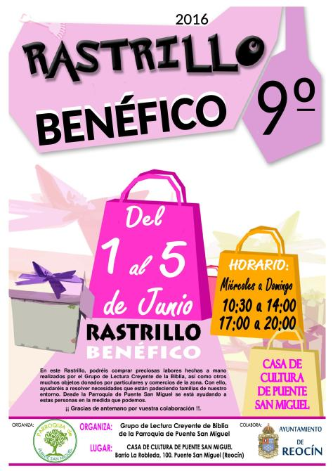 CARTEL RASTRILLO BENEFICO 2016
