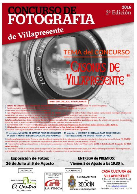 cartel concurso de fotografia de villapresente2016