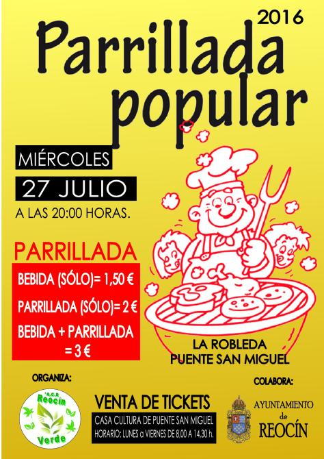 CARTEL PARRILLLDA POPULAR 2016
