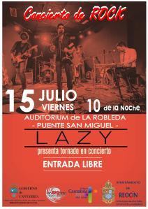 concierto rock 15 julio
