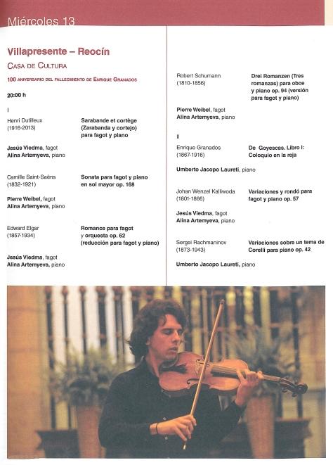 PROGRAMA MUSICAL 13 DE JULIO EN VILLAPRESENTE