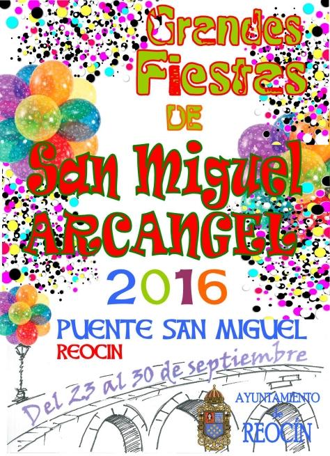cartel fiestas de san miguel 2016