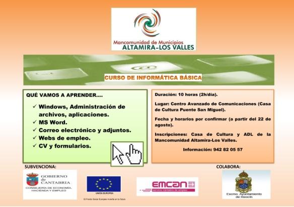 La Mancomunidad Altamira Los Valles Retoma Los Cursos De Informática Básica Pagina Web Oficial Del Excelentísimo Ayuntamiento De Reocín
