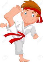 33365776-el-ni-o-peque-o-de-dibujos-animados-entrenamiento-de-karate-foto-de-archivo