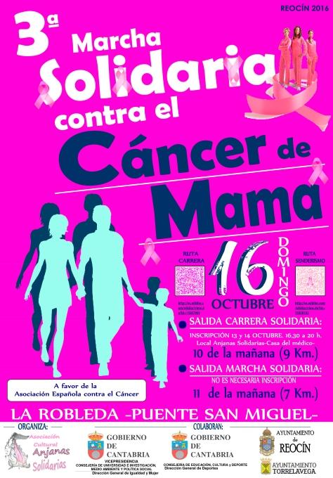 CARTEL 3º MARCHA CONTRA EL CANCER DE MAMA