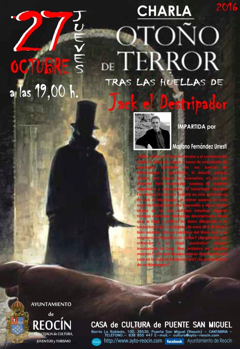 cartel charla otoño de terror2016