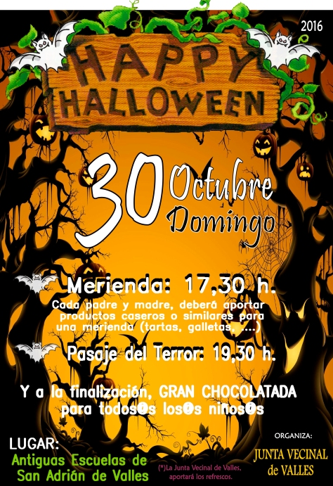 cartel de hallowein de valles