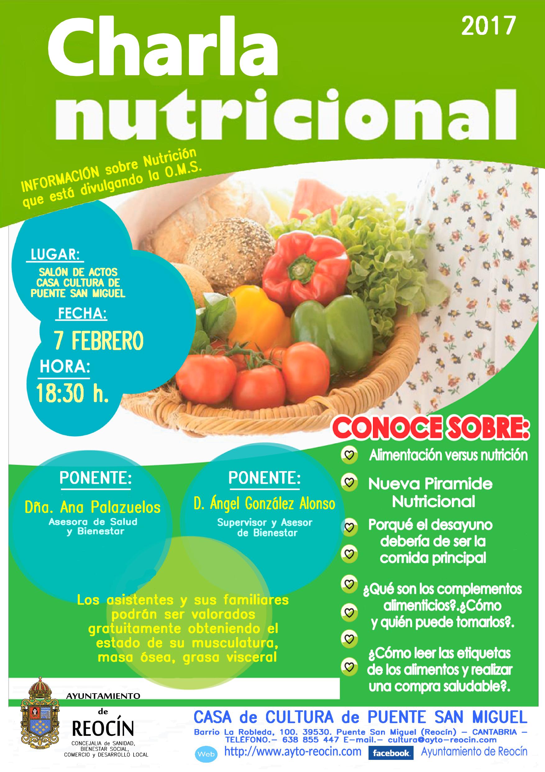 charla de salud sobre nutrición