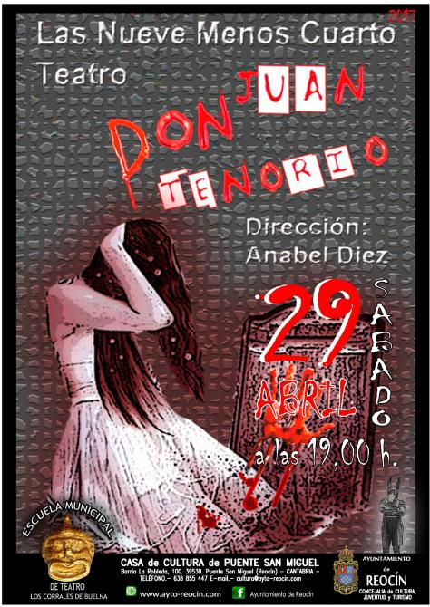 CARTEL OBRA DON JUAN TENORIO 29ABRIL2017