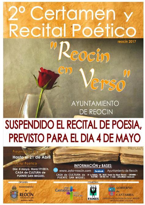 SUSPENDIDO RECITAL DE POESUA4DEMAYO2017