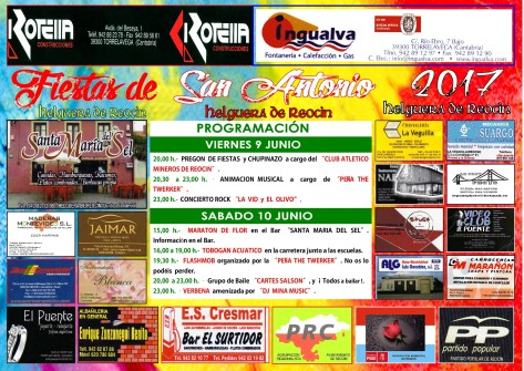 cartel fiestas san antonio 2017