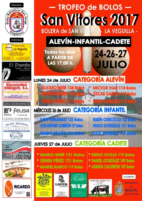 cartelTROFEO DE BOLOS CATEGORIAS INFERIORES SAN VITORES 17