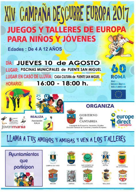 XIV CAMPAÑA DESCUBRE EUROPA 2017. JUEGOS Y TALLERES PARA NIÑOS