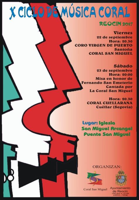 CARTEL Xº CICLO CORAL SAN MIGUEL 2017