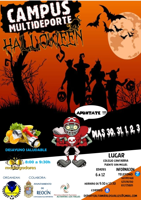 cartel campus multideporte HALLOWEEN