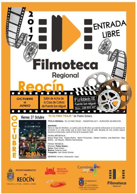 PROYECCIÓN FILMOTECA 27 OCTUBRE 2017
