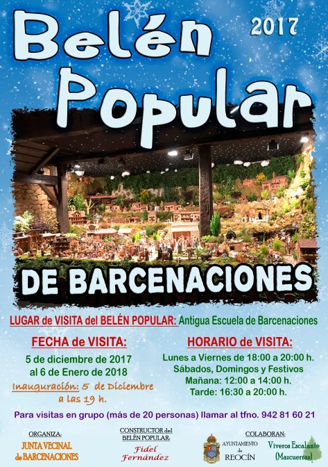 cartel belen popular barcenaciones 2017