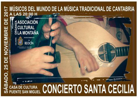 CARTEL CONCIERTO SANTA CECILIA 25NOV17