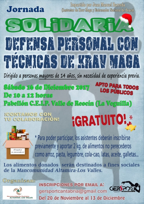 cartel jornada solidaria defensa personal