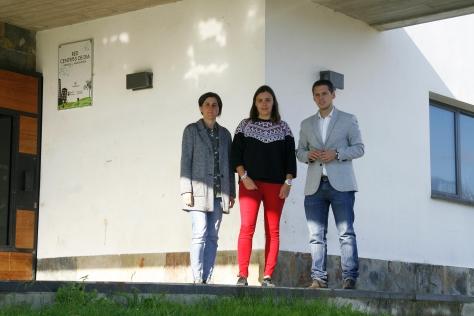 Sara Peláez Ruth Calderón y Mario Iglesias. Centro de Día de la Mancomunidad Altamira-Los Valles en Vispieres
