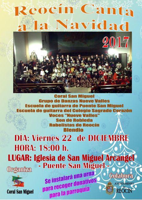 Cartel Reocín Canta a la Navidad 2017 _5_