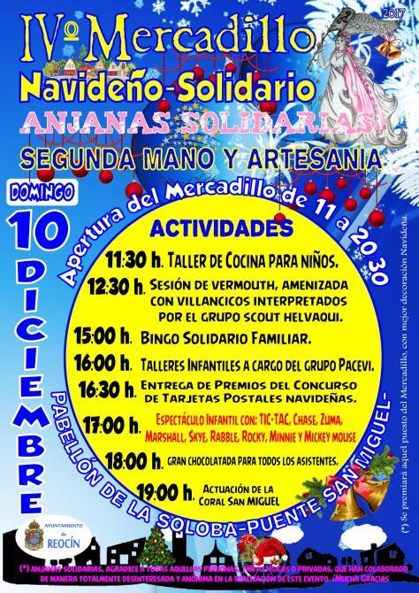 cartelmercadillo solidario anjanas solidarias 2017