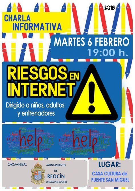 Cartel charla Riesgos en Internet