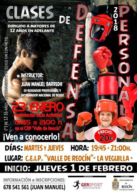 cartel clases de boxeo 2018