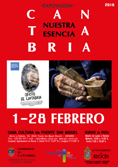 CARTEL EXPOSICION OFICIOS DE CANTABRIA 1-28 FEBRERO18