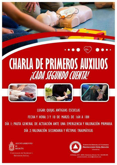 cartel primeros auxilios proteccioncivil2018