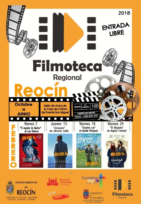 CARTEL PROYECCIÓN FILMOTECA FEBRERO 2018