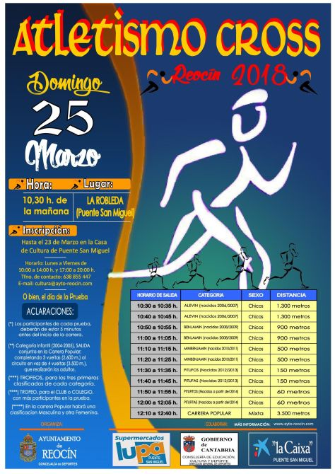 cartel FINAL atletismo cross reocin 25 de MARZO 2018