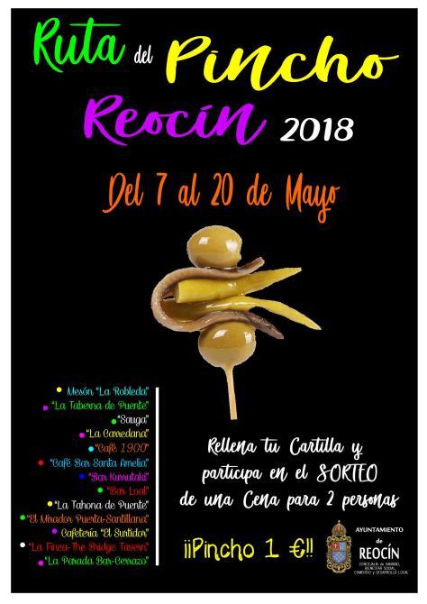 cartel ruta pincho 2018