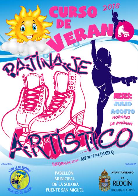 CARTEL CURSO VERANO PATINAJE ARTISTICO 2018