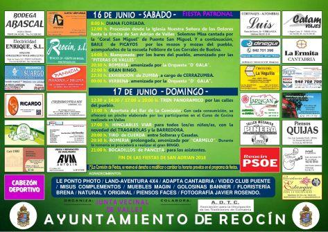 cartel fiestas de SAN ADRIAN 20182