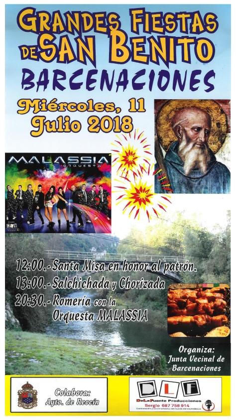 cartel fiestas de san benito 2018