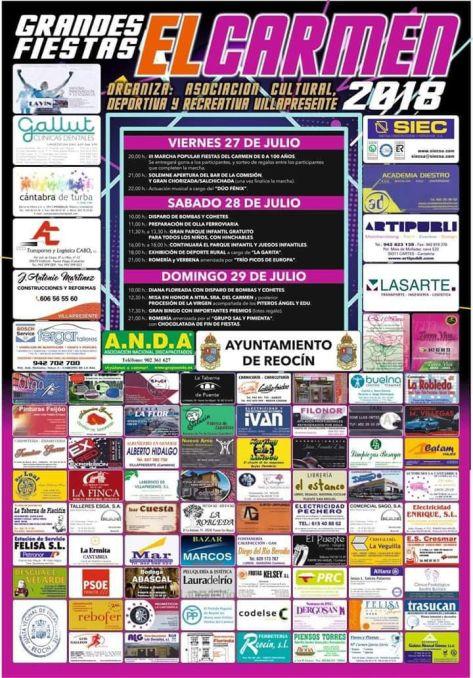 cartel fiestas villapresente2018