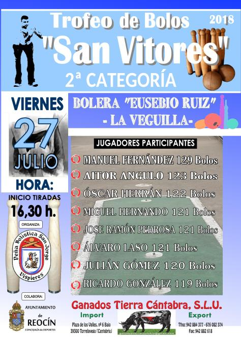 CARTEL TROFEO DE BOLOS SAN VITORES 2018