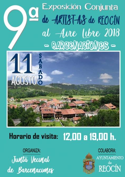 CARTEL 9ª EXPOSICION ARTISTAS DE rEOCÍN 2018