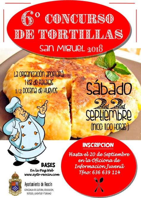 cartel concurso tortilla 2018