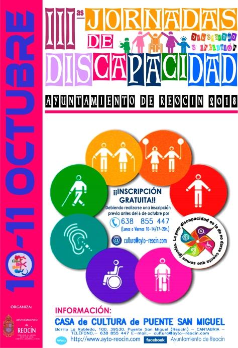 cartel JORNADAS DISCAPACIDAD octubre  2018