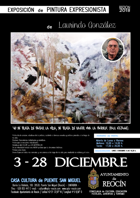 cartel expo laurindo 3-28DIC 18