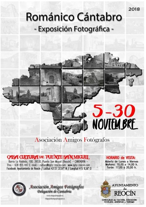 CARTEL EXPO ROMANICO CANTABRIA EN FOTOGRAFIA